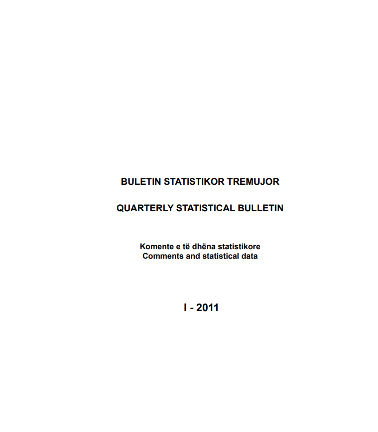 Buletini Statistikor Tremujor, 1-2011