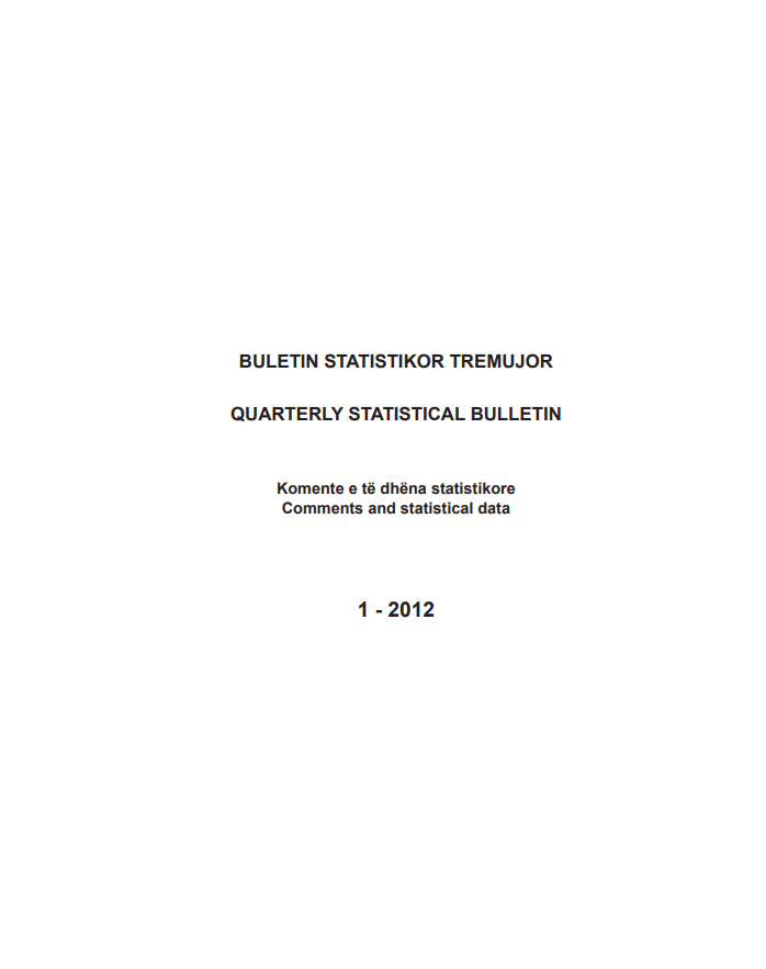 Buletini Statistikor Tremujor, 1-2012