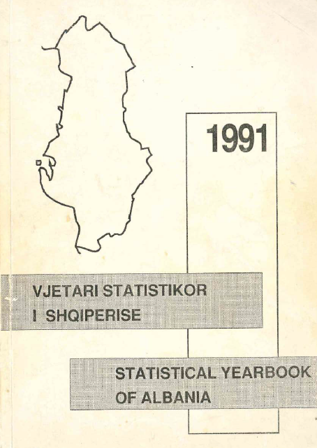 Statistical Yearbook of Albania, 1991